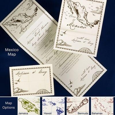 Landkarte Hochzeit Einladungen  Wedding DIY ...