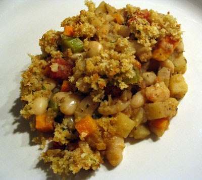 Vegetarian Cassoulet with Bread Topping -- rich, savory, filling and ...