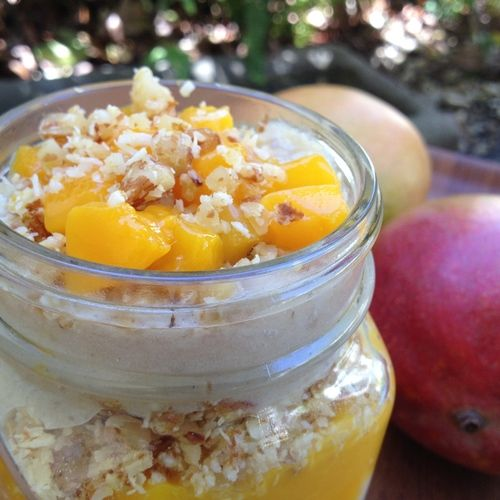 Mango Parfait with Coconut Crunch | Vegan: Desserts and Tasty Treats ...