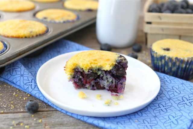 Blueberry Corn Muffins-Two Peas & Their Pod