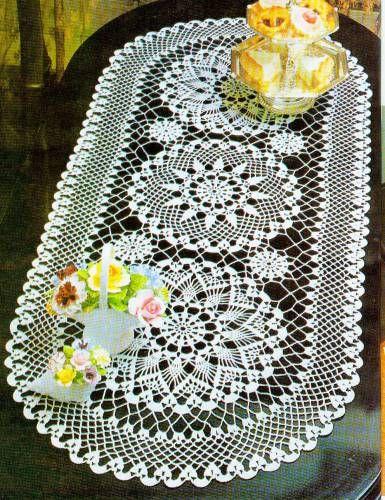 Вязание салфетки модели