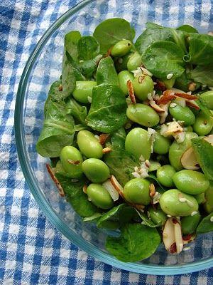 Sesame Edamame salad with Almonds | Letitia's fav color | Pinterest