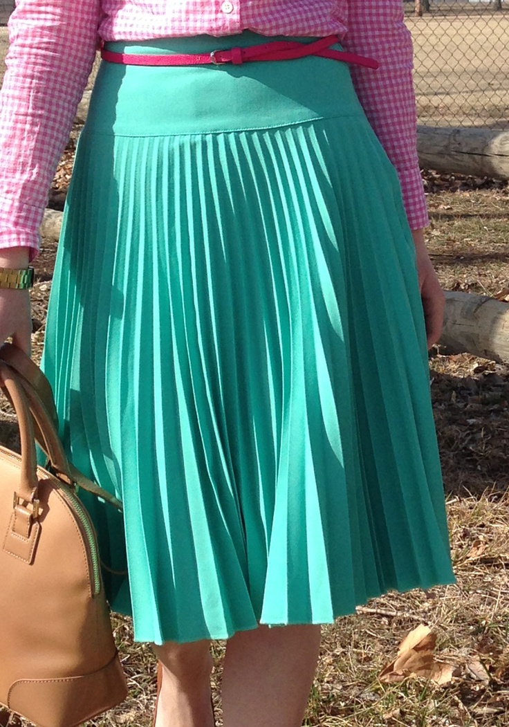 Mint Pleated Skirt