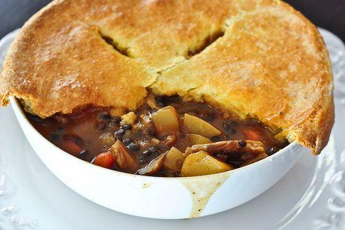Mushroom and lentil pot pie | Lentils, Chickpeas & More | Pinterest