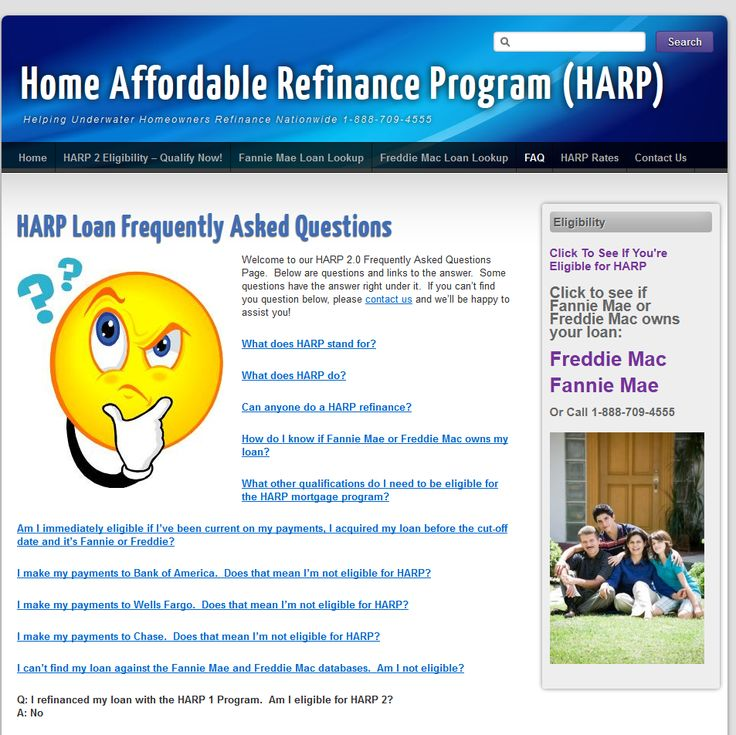 Frequently Asked Questions to the HARP 2 Program