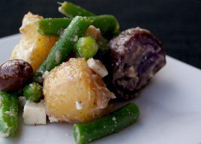 Greek Potato Salad by A Nutritionist Eats