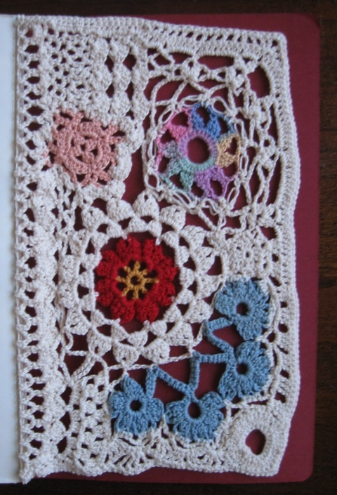 Crocheted art journal page Art Journal Pinterest