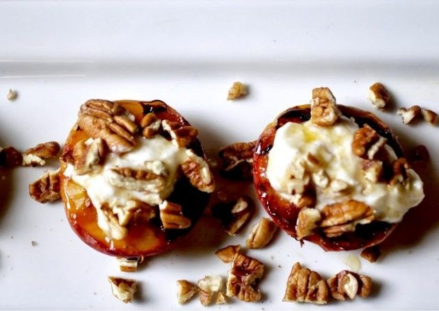 Grilled peaches perfect for summertime can also grill pineapple top ...