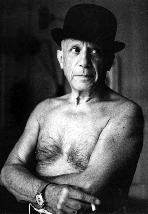 Pablo Picasso by Jacques-Henri Lartigue, Cannes 1955