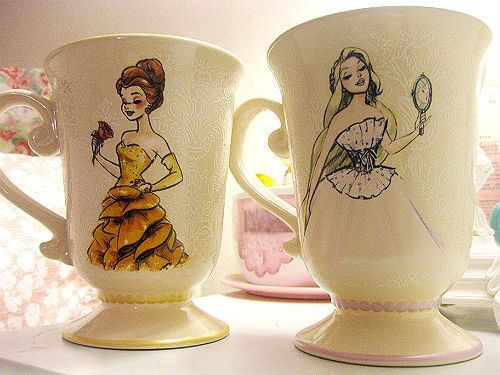 Princess illustration mugs
