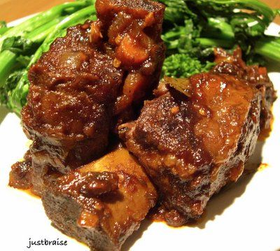 ... Braise: Bourbon-Pomegranate Molasses Beef Short Ribs w/ Broccoli Rabe