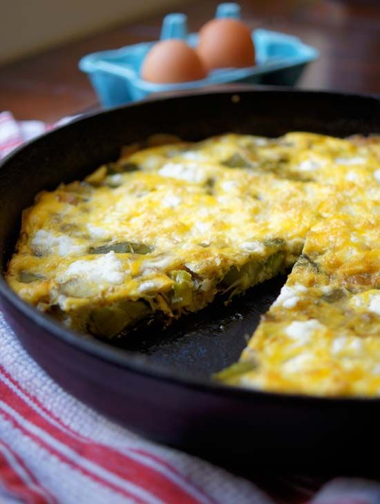 Asparagus, Leek, and Goat Cheese Frittata « Detoxinista