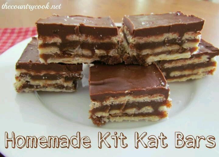 Homemade Kit Kat bars | SWEETS for the SWEETS | Pinterest
