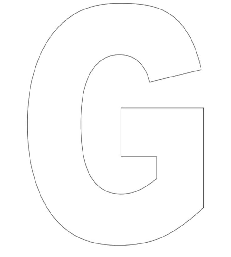 letter g coloring pages - photo#23