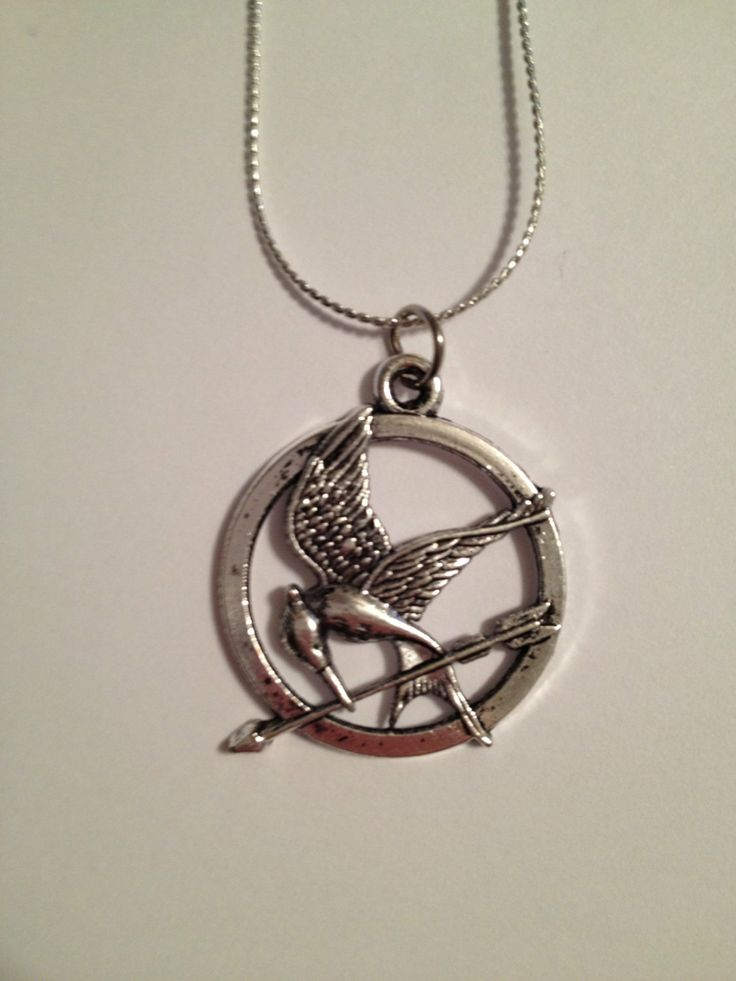 hunger inspired mockingjay necklace by
