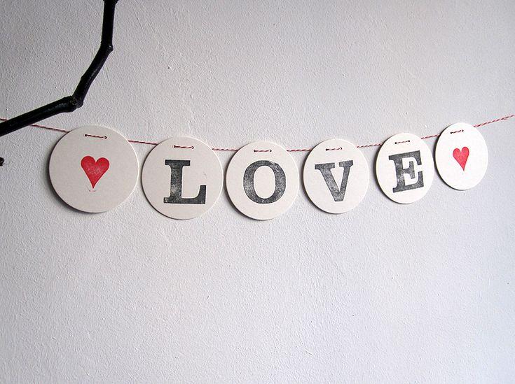"Guirlande ""love"""