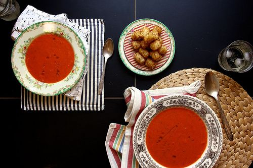 tomato zucchini soup by joy the baker | Healthy Eats | Pinterest