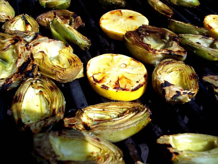 Grilled Baby Artichokes with Tomato Basil Salsa - This just screams ...