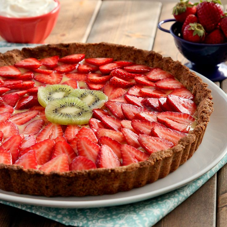 Strawberry lemon curd tart with gluten-free almond crust | Recipe