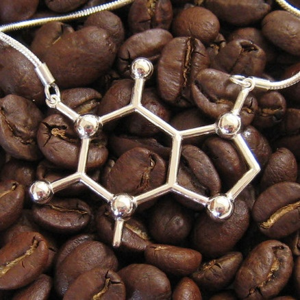 caffeine molecule necklace: where style and nerdiness marry...sigh