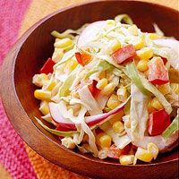 ... coleslaw a spicy kick. Fat-free mayonnaise keeps the slaw low in