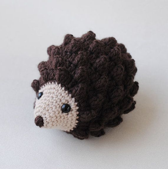 Crocheting Animals : Hedgehog Stuffed Animal, Hand Crocheted Gender Neutral Toy, Simple Toy
