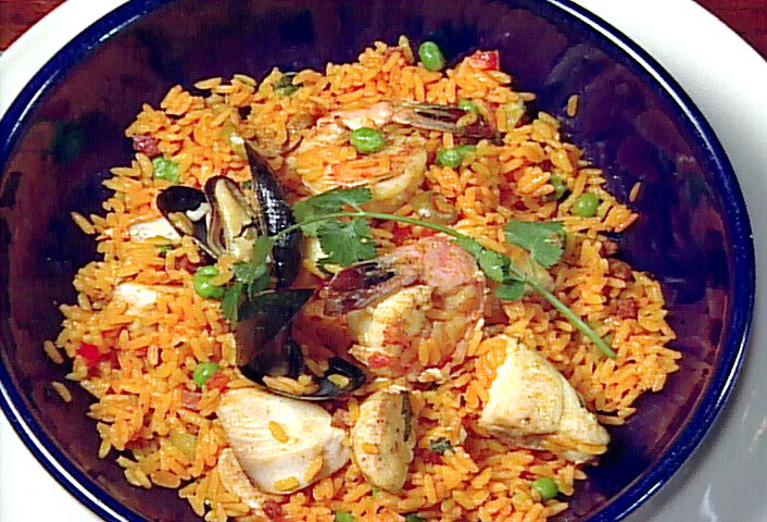 Paella from FoodNetwork.com - I would just make it with shrimp ...