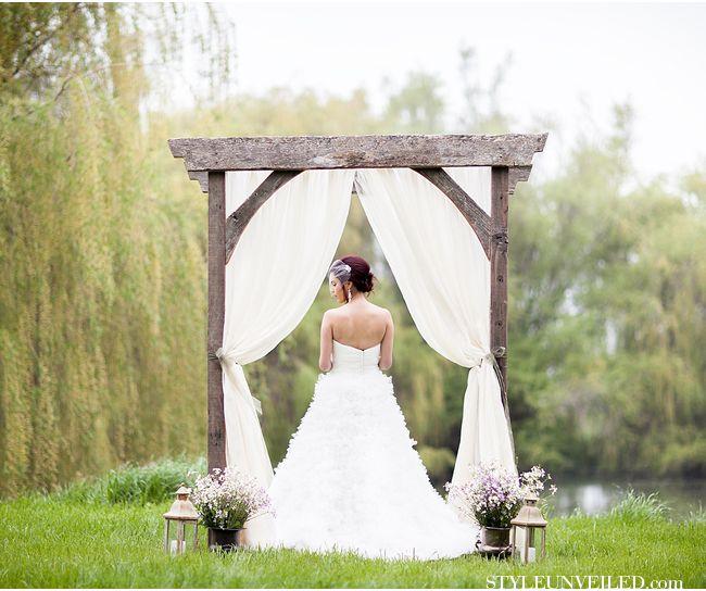 Wedding Altar Trellis: Organic Glamour Wedding Inspiration In Sonoma Wine Country