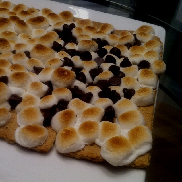 Oven baked s'mores :) Birthday cake for my brother fo sho!