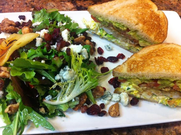 ... lettuce, avocado, tomato) sandwich prepared by Chef Jessica Rhomberg