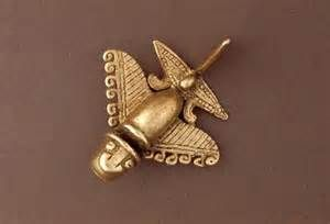 Quimbaya Gold Artifacts.   Appears to be an airplane crafted a few centuries before the Wright brothers were born.