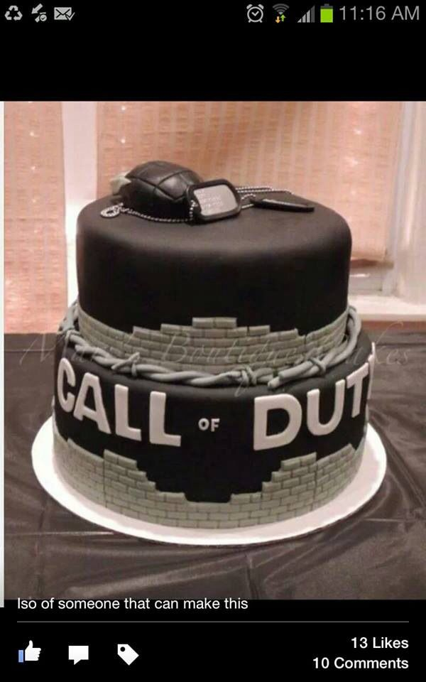 Cake Design For Teenager Boy : COD, typical teenage boy cake! deserts and baking ...