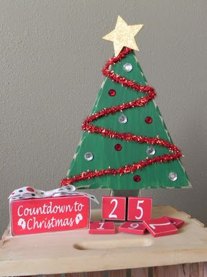 Sliverz wood crafts christmas countdown christmas for Number of ornaments for christmas tree