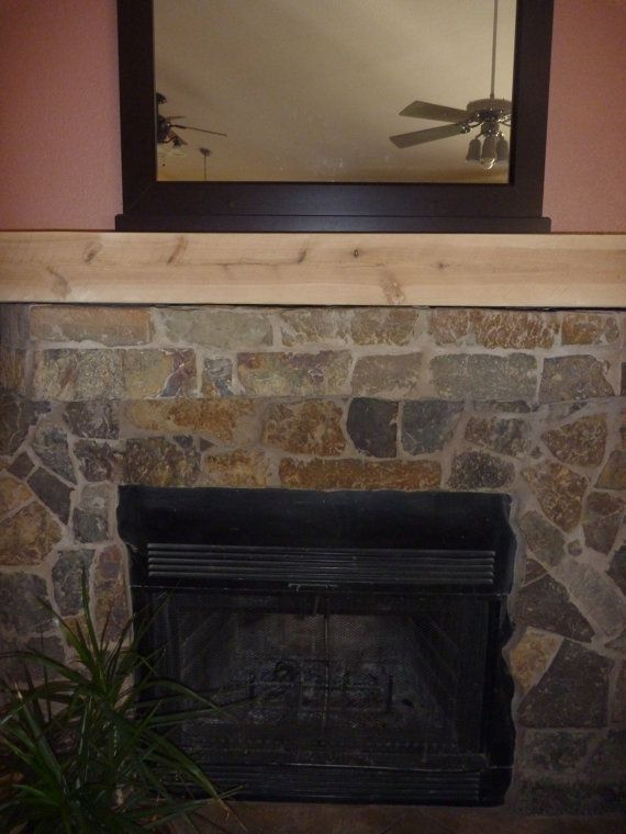 Tv Shelf Rustic Fireplace Mantel Floating Mantel Ready For Stains