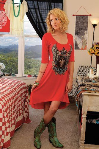 country western girl fashion   Cruel Girl Western Dress Womens T-Shirt