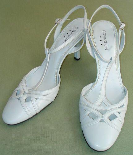 Art Deco Flapper T Strap Covington Lt Gray Heels Shoes Pumps 9 | eBay