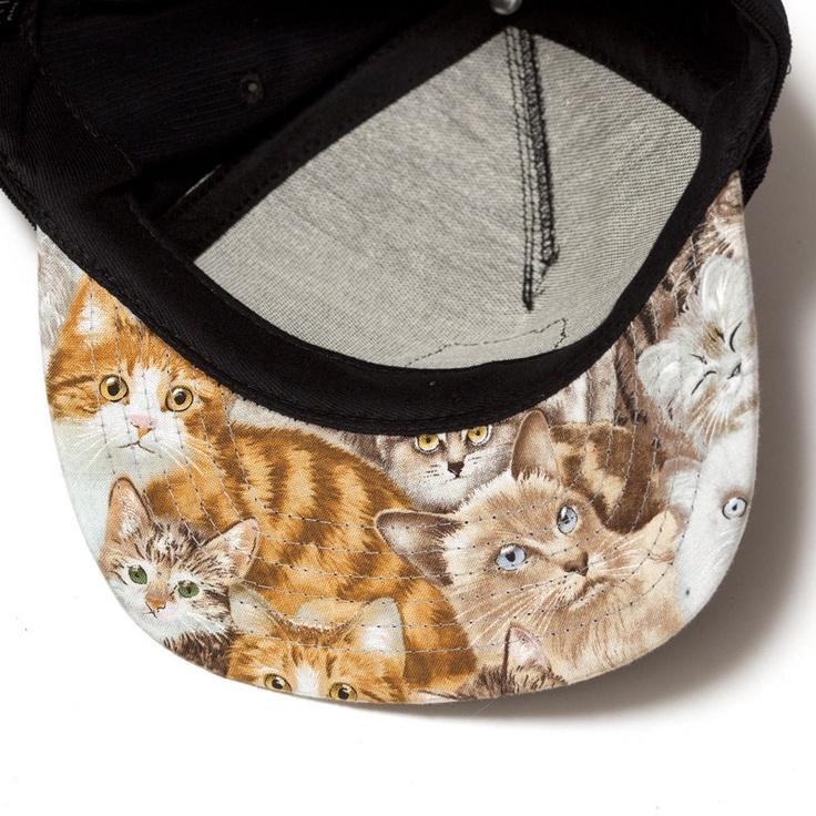 Ripndip Cream Snapback - Cat print bill hat - $40