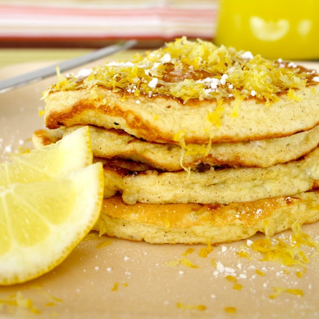 lemon cottage cheese pancakes | Recipes I'd like to try | Pinterest