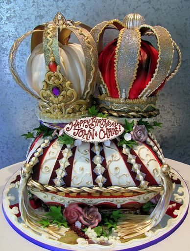 King & Queen Crowns Cake  C KES  Pinterest