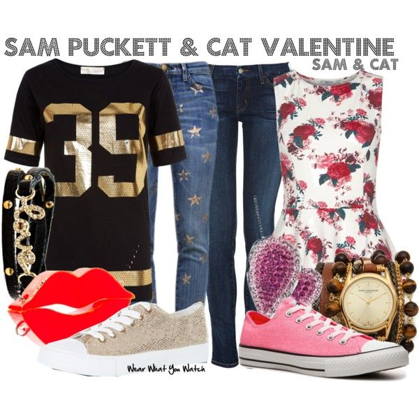 cat valentine inspired nails