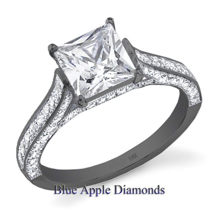 black camo princess cut engagement rings | 70 Ct Princess Cut Diamond ...