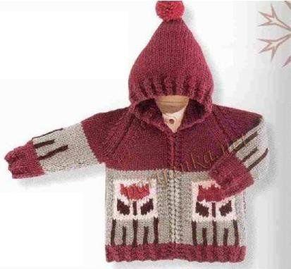 Вязание крючком пальто куртка для детей