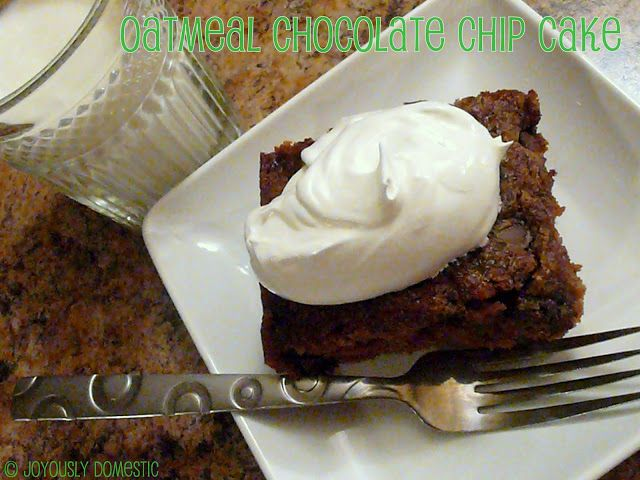 Oatmeal Chocolate Chip Cake | Food! | Pinterest