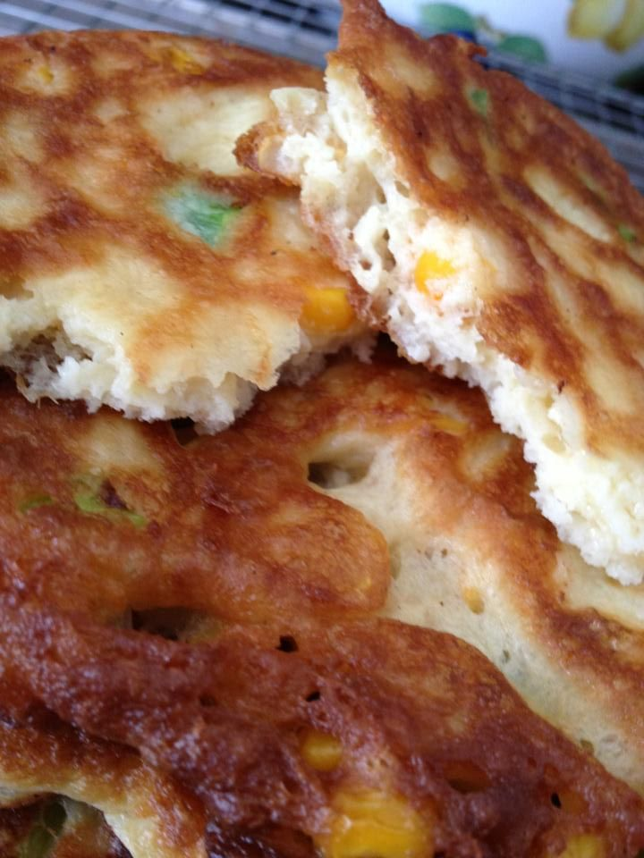 Corn and Scallion Pancakes Amelia's Kitchen