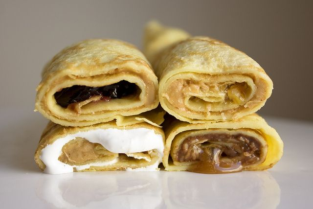 peanut butter crepe.... 1) Classic: smooth peanut butter & grape jelly ...