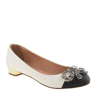 Collection Janey jeweled bow snakeskin flats - shoes - Women's new