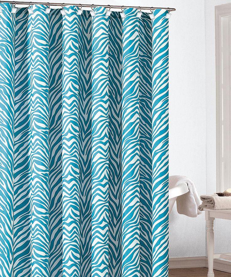 Turquoise Zeek Shower Curtain