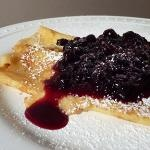 Blueberry Crepes with Orange Ricotta Filling