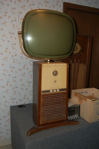 Philco predicta pedestal tv rare floor model for Floor model tv