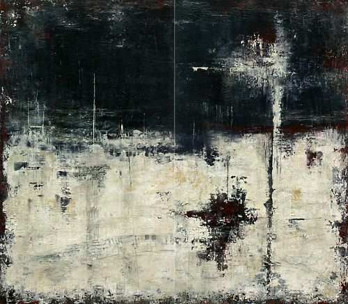 Patricia Oblack|abstracthinker-Top of the World, Moods in Black Series. Acrylic with palette knife,48x64 diptych  Available from artist studio.Please contact artist for any information regarding artwork listed on Abstracthinker